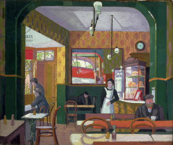 The Coffee House, c.1914 (oil on canvas)